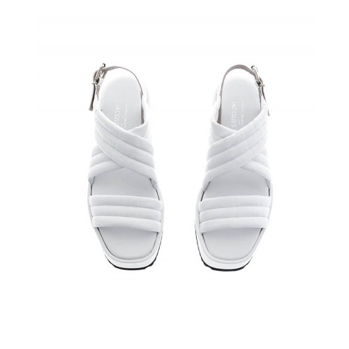 White platform sandals Jacques Loup for women