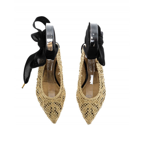Achat Gold colored ballerinas with ribbon Jacques Loup for women - Jacques-loup