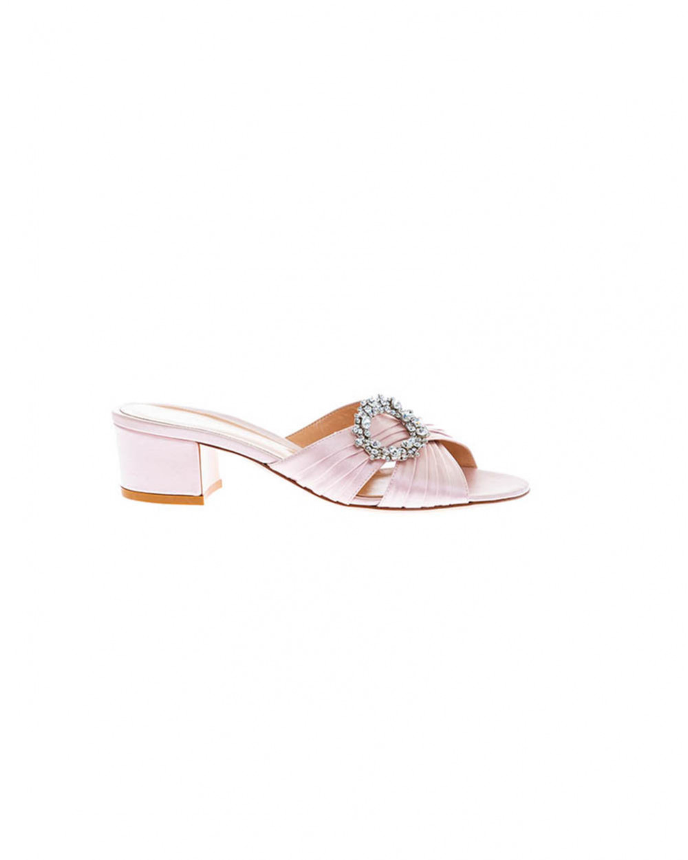 Light pink mules with decorative buckle Gianvito Rossi for women