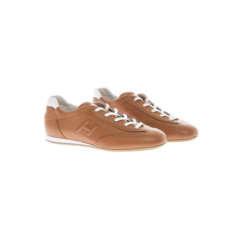 "Cognac colored sneakers ""Olympia"" Hogan for women"