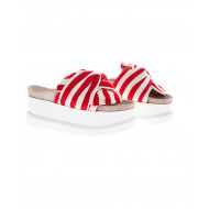 Beige and red mule Inuikii for women