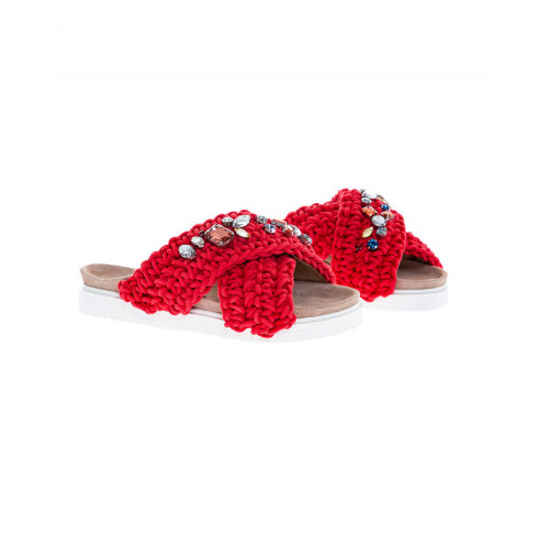 Achat Red mules decorated with stones Inuikii for women - Jacques-loup