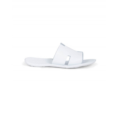 "White mules with ""H"" strap Jacques Loup for men"
