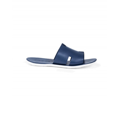 "Blue mules with ""H"" strap Jacques Loup for men"