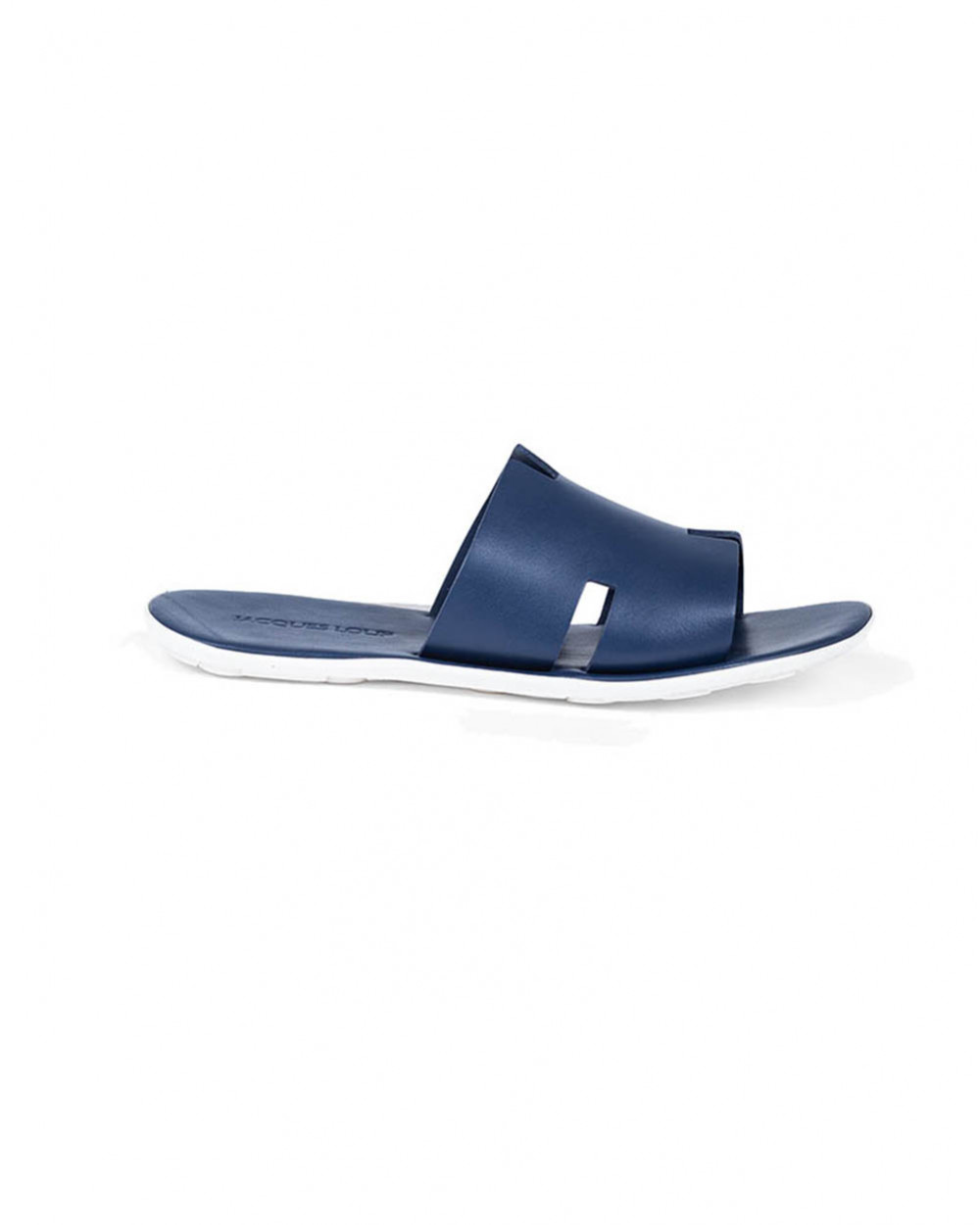 """Blue mules with """"H"""" strap Jacques Loup for men"""