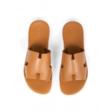 """Dark gold mules with """"H"""" strap Jacques Loup for men"""