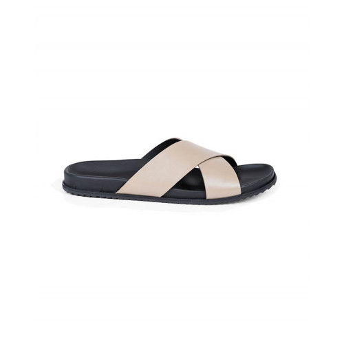 Achat Putty colored mules with crossing straps Jacques Loup for men - Jacques-loup