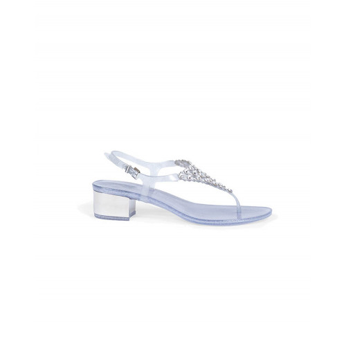 Silver thong sandals with Swarovsky stones Jacques Loup for women