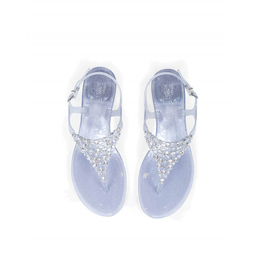 Achat Silver thong sandals with Swarovsky stones Jacques Loup for women - Jacques-loup