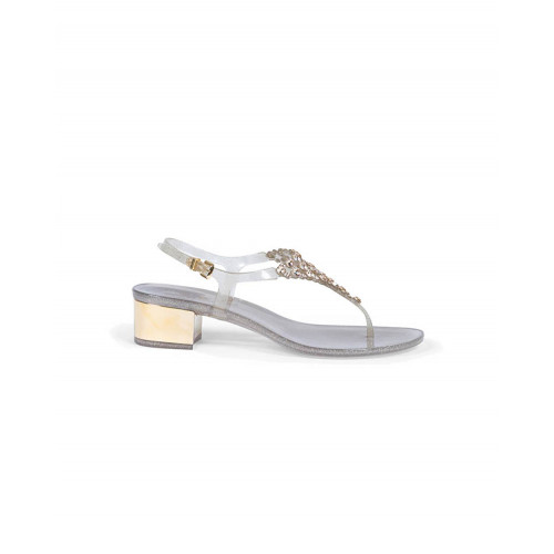 Achat Gold colored thong sandals with Swarovsky stones Jacques Loup for women - Jacques-loup