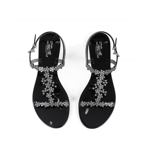 Achat Black beach sandals with Swarovsky stones Jacques Loup for women - Jacques-loup