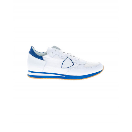 "White and blue sneakers ""Tropez"" Philippe Model for men"