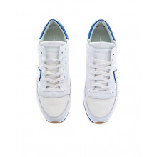 """White and blue sneakers """"Tropez"""" Philippe Model for men"""