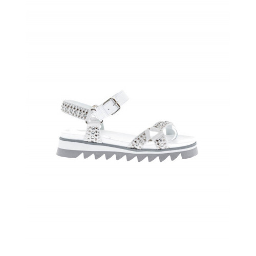 "White and grey sandals ""Montpellier"" Philippe Model for women"