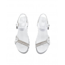 """White and grey sandals """"Montpellier"""" Philippe Model for women"""