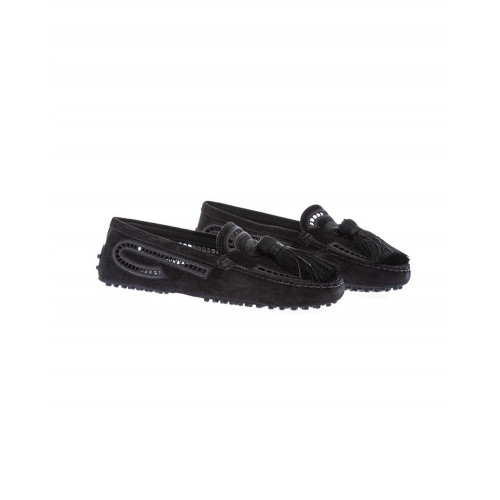 Achat Black moccasins with tassel and embroideries Tod's for women - Jacques-loup