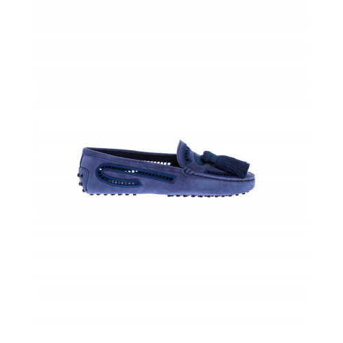 Achat Blue moccasins with tassel and embroideries Tod's for women - Jacques-loup