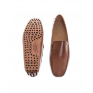 Brown moccasins with smooth upper Tod's for men