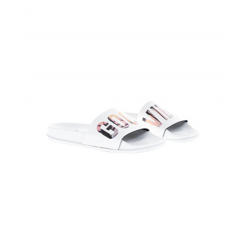 "White beach mules ""Good Vibes"" Jacques Loup for women"