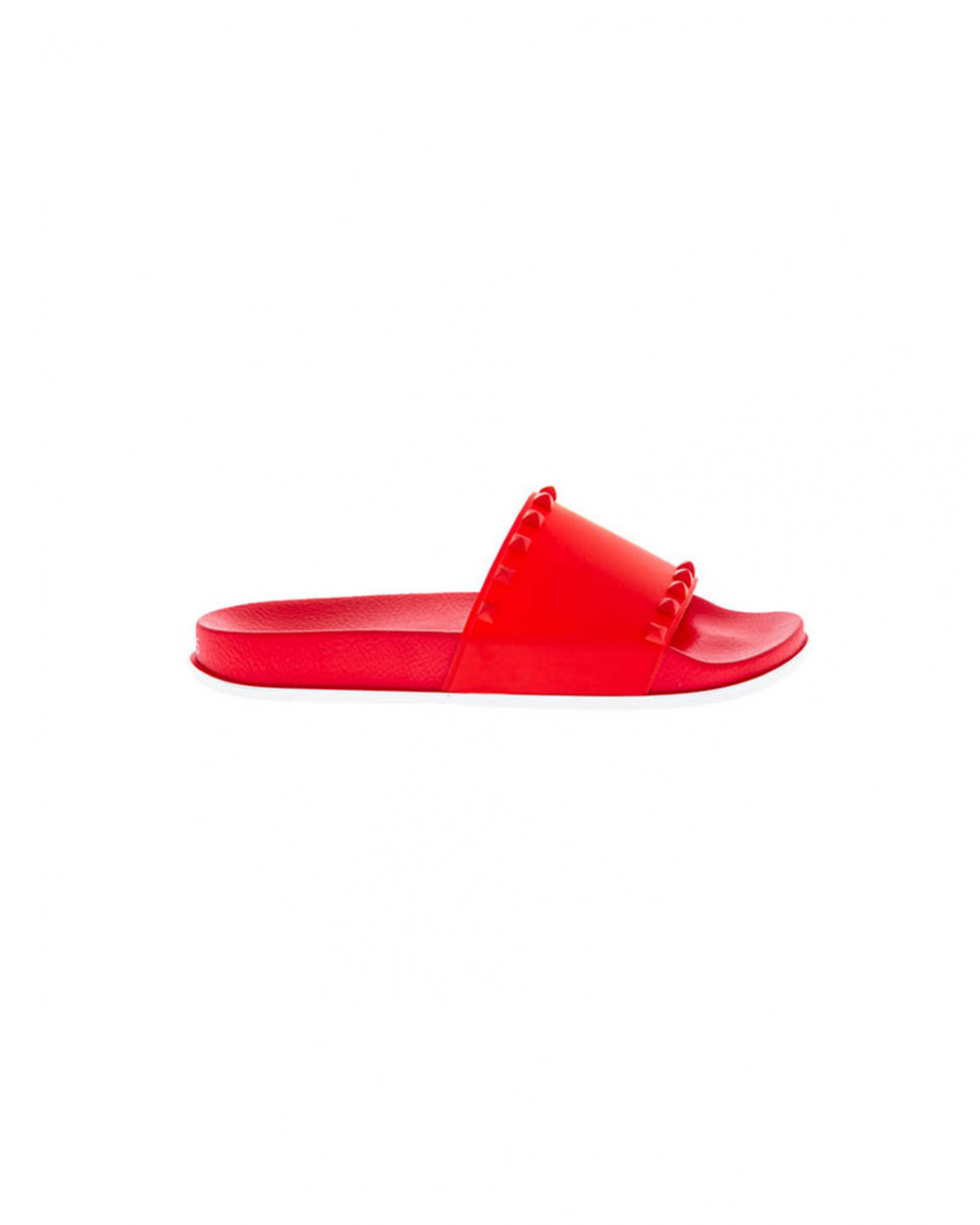 Red beach mules with decorative nails Jacques Loup for women