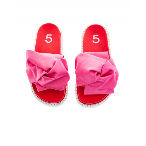 Red and fuchsia beach mules Jacques Loup for women