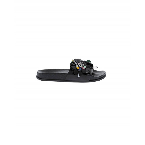 Achat Black beach mules decorated with flowers Jacques Loup for women - Jacques-loup