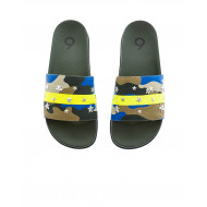 Achat Khaki and yellow beach mules with camouflage print Jacques Loup for men - Jacques-loup
