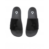 Black beach mules in stretch tissue Jacques Loup for men