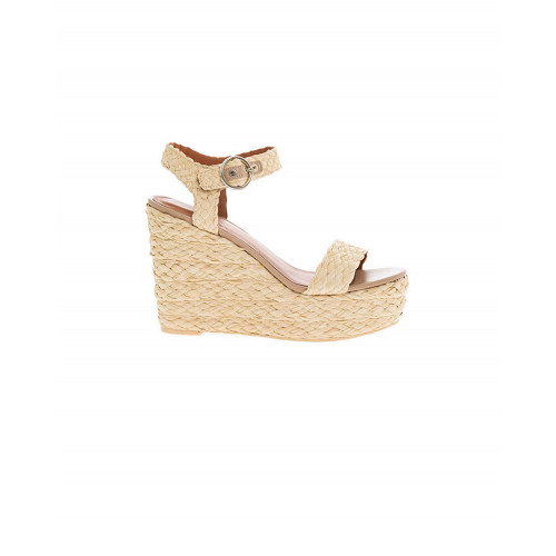 Achat Beige raffia platform sandals What For for women - Jacques-loup