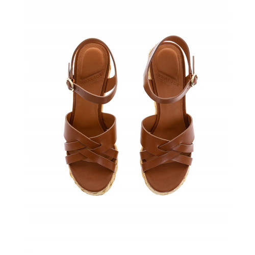Achat Brown platform sandals What For for women - Jacques-loup