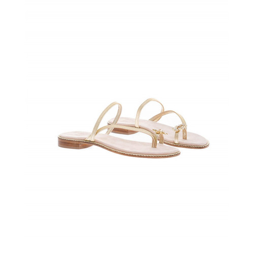 Achat Light gold asymmetrical mules Jacques Loup for women - Jacques-loup