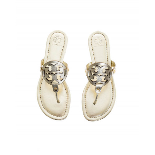 Achat Golden colored toe thong mules Miller Tory Burch for women - Jacques-loup