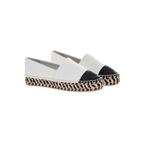 Achat Cream colored espadrilles with black toe cap Tory Burch for women - Jacques-loup