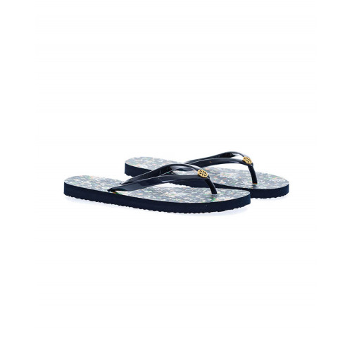 Navy blue flip-flops Tory Burch for women