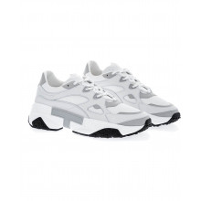 """White and grey sneakers """"T-Run"""" Tod's for men"""