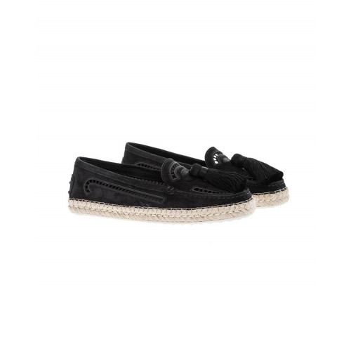 Black moccasins with tassels Tod's for women