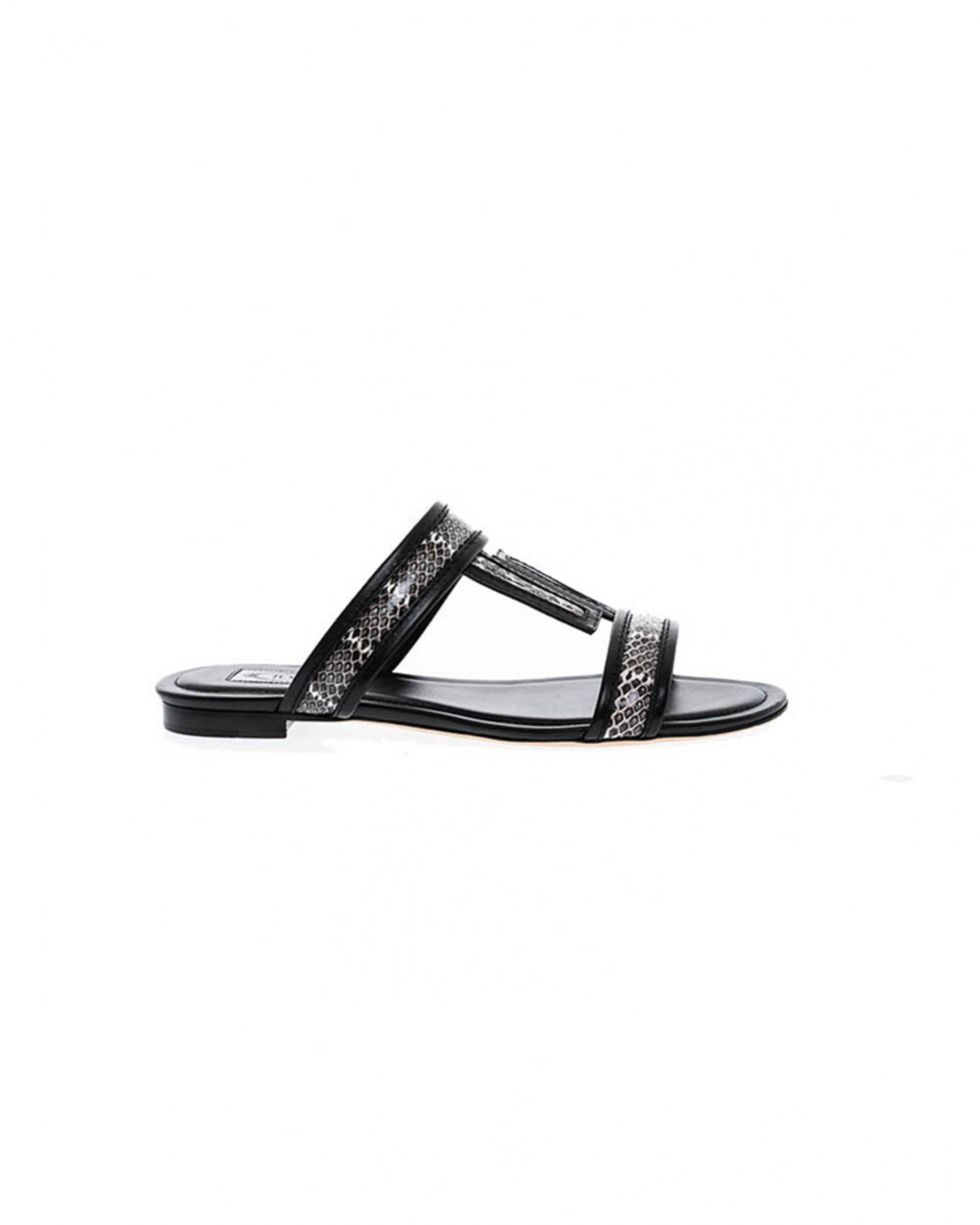 Black mules with snake Tod's for women