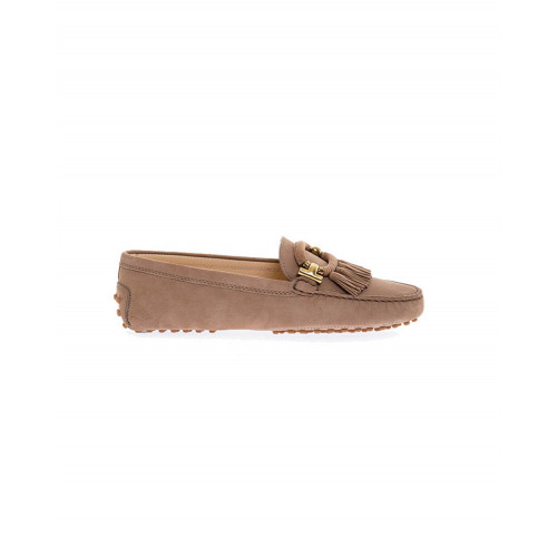 Beige moccasins with buckle and trimmings Tod's for women