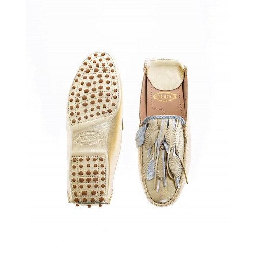 Achat Light gold and silver mules with decorative leaves Tod's for women - Jacques-loup