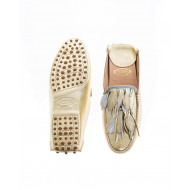 Light gold and silver mules with decorative leaves Tod's for women