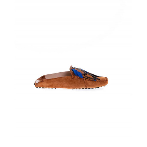 Achat Cognac colored mules with decorative leaves Tod's for women - Jacques-loup