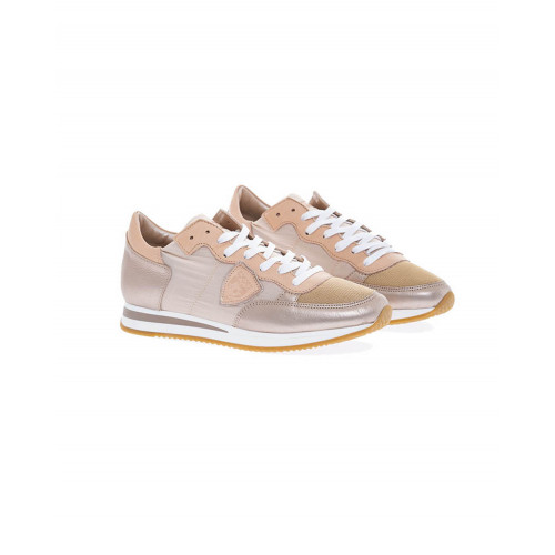 "Metal pink sneakers ""Tropez"" Philippe Model for women"