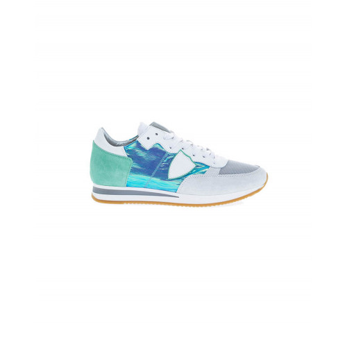 "White and turquoise sneakers ""Tropez"" Philippe Model for women"