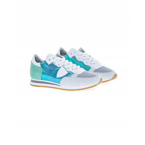 Achat White and turquoise sneakers Tropez Philippe Model for women - Jacques-loup
