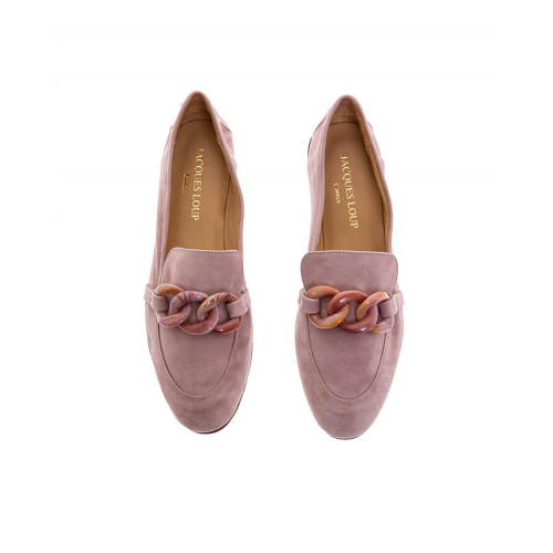 Lilac moccasins with bakelite bit Jacques Loup for women