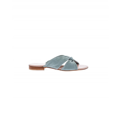 Achat Leather flat mules twisted... - Jacques-loup