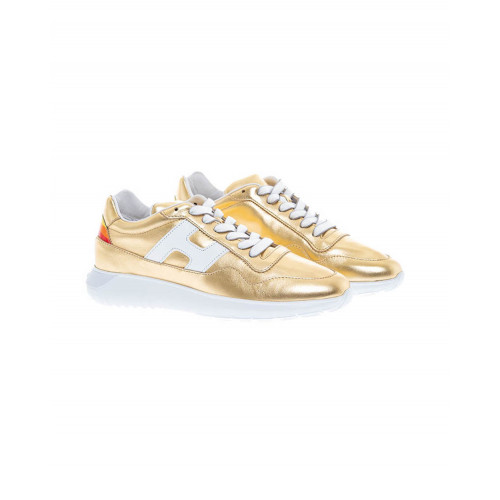 Achat Gold colored sneakers I-Cube Hogan for women - Jacques-loup