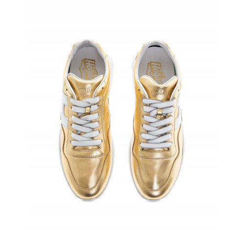 "Gold colored sneakers ""I-Cube"" Hogan for women"