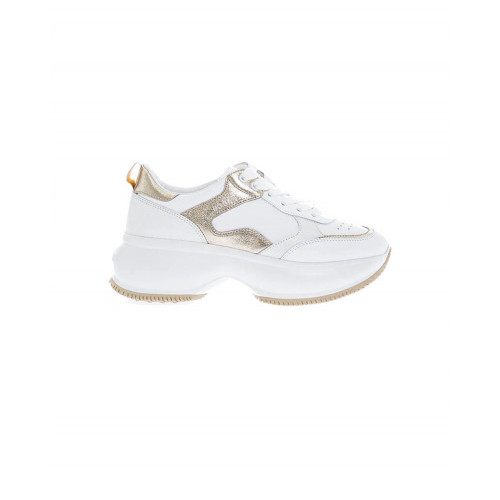 "White and gold sneakers Hogan ""New Iconic"" for women"