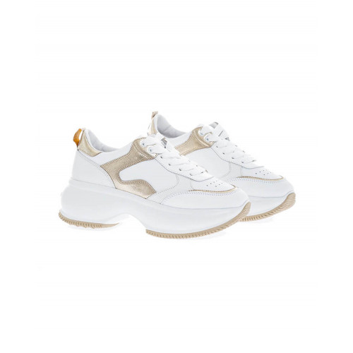 Achat White and gold sneakers Hogan New Iconic for women - Jacques-loup